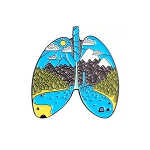 4/$20 Nature Explore Forest Organ Lung Enamel Pin